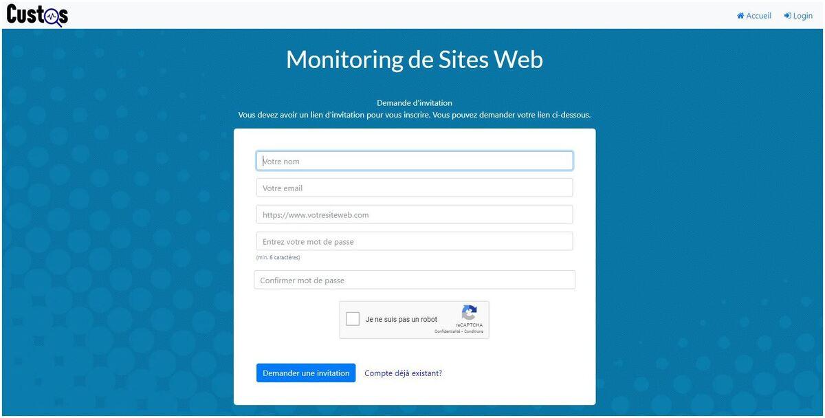 Custos Monitoring de site web